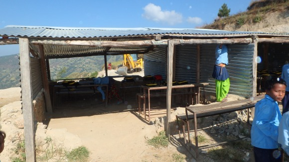 These are the temporary classrooms