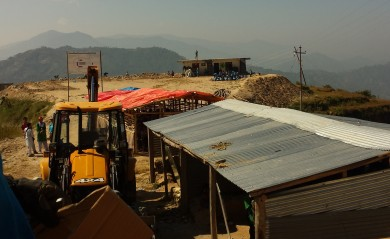 These are temporary buildings Kumari are using for classes