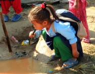 Part of the extended goal of the project is clean water and sanitation for the kids